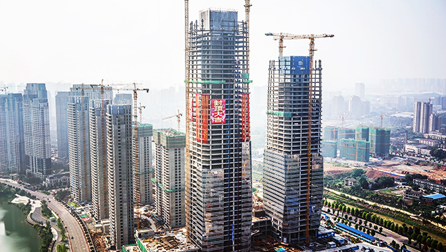 梅溪湖国际新城双子塔写字楼南塔